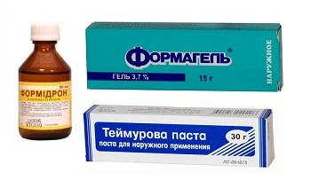 Основные медикаментозные средства в лечении запаха ног