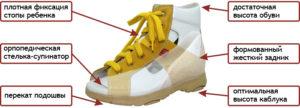 Характеристики обуви