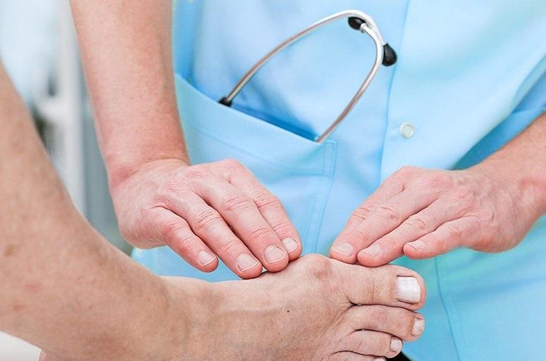 Как снять воспаление косточек на большом пальце стопы