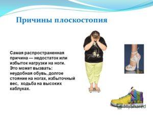Лишний вес и неправильная обувь