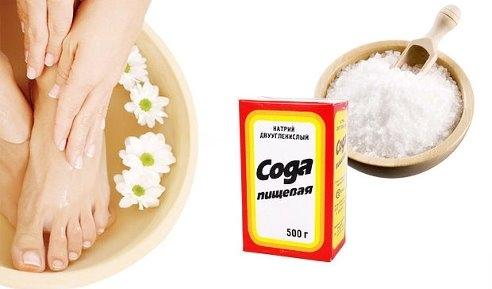 Сода при болях в стопе