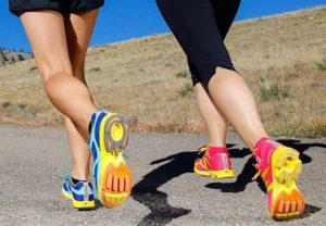 Бег в специальных кроссовках