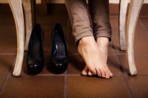 Дискомфорт в пальцах из-за неудобной обуви
