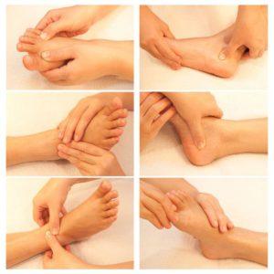 Этапы массажа стопы