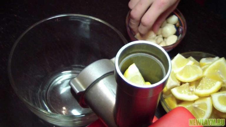 Настойка лимон с чесноком для очищения сосудов