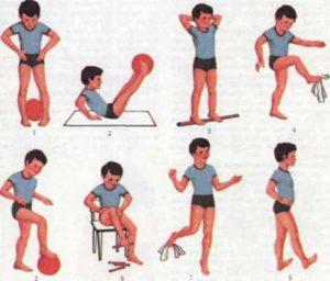 Комплекс упражнений против плоскостопия