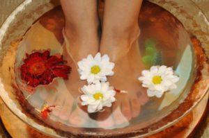 Ванночки с травами для устранения отечности