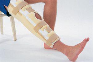 Лангетка на ногу при переломе лодыжки голеностопа и стопы