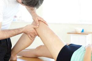 Классический массаж колена