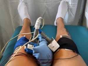 Электрофарез коленного сустава
