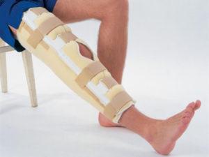 Лангентная повязка на колено
