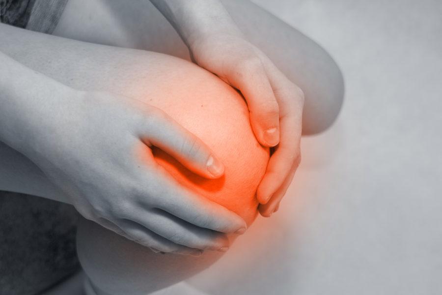 Как снять отек с колена