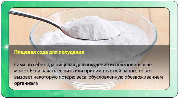 Сода В Целях Похудения. Пищевая сода для похудения: рецепты и результаты