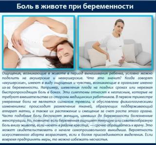 Сразу после зачатия может болеть живот