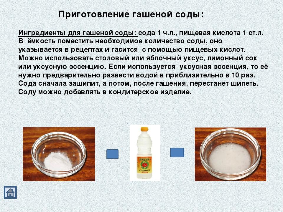 Как похудеть на соде рецепты
