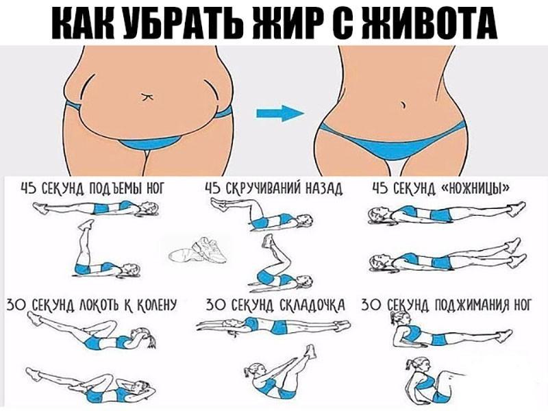 Программа тренировок чтобы сжечь жир на животе