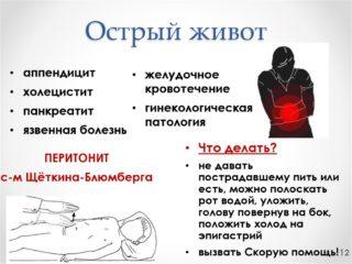 Что делать если болит живот ниже пупка
