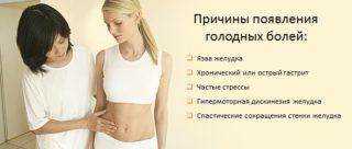 Причины голодных болей