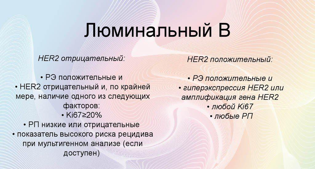 Люминальный тип в рака молочной железы