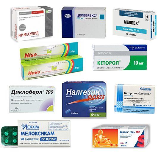 Список НПВП при остеохондрозе: препараты в таблетках и свечах