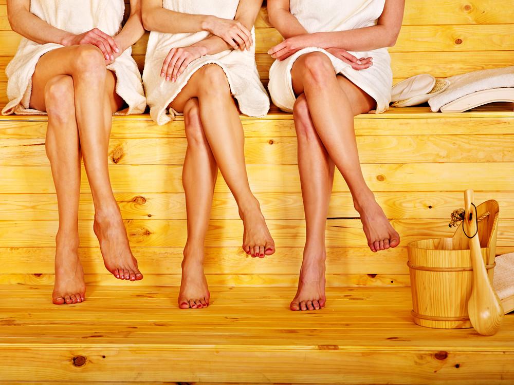 steamiest sauna scene: three girls get racy with each other  173789